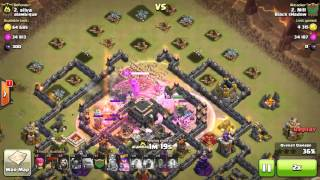 Clash of Clans - You Won't Believe Your Eyes - Amazing Attack with Gowipe + Lavaloon . Osm.