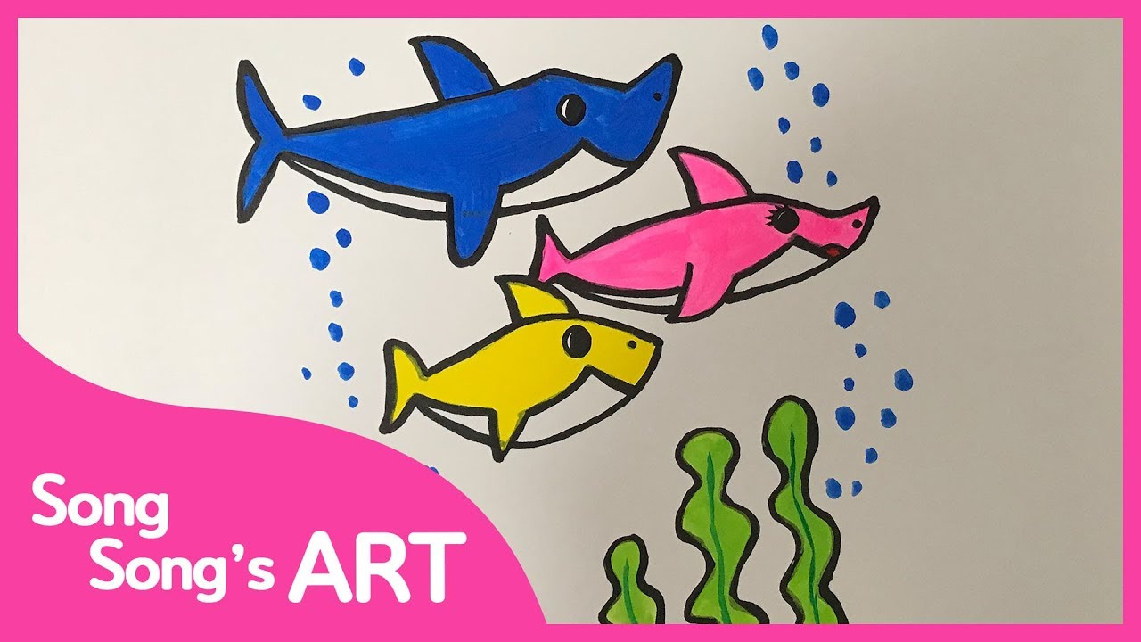 Pinkfong Baby shark family Coloring Page | SongSong's ART ...