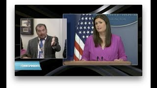 TENSIONS IN THE WHITE HOUSE BRIEFING ROOM