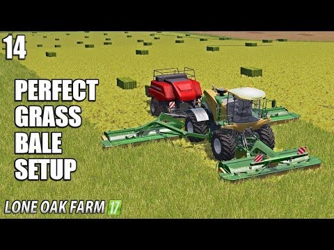 PERFECT GRASS BALE SETUP | Lone Oak Farm | Farming Simulator 17 | #14