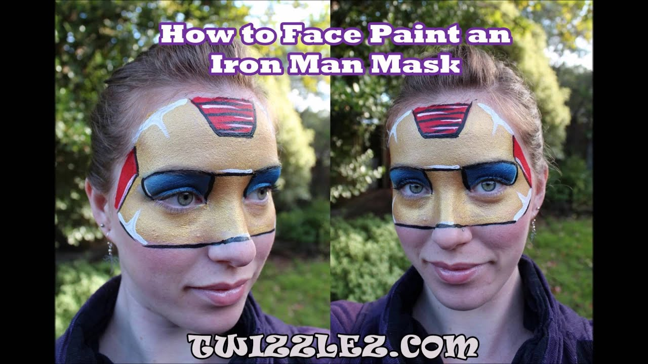 How to Face Paint an Iron Man Mask - Easy Face Painting ...