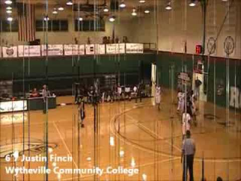 6'7 Justin Finch JUCO Freshman Highlights Wytheville Community College