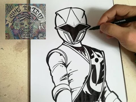How To Draw Power Ranger Ninja Steel Blue Como Dibujar Power