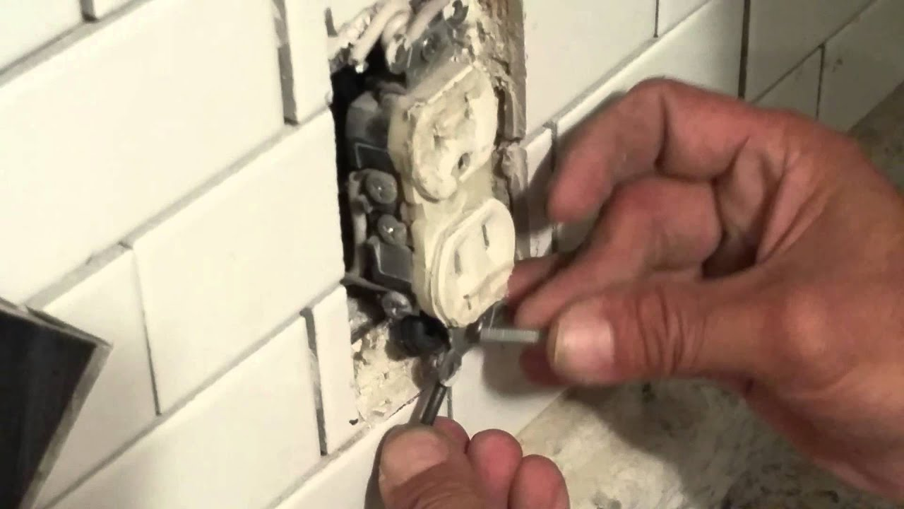 Bring Recessed Outlet Flush To Wall Without Extenders Kitchen Tile Wiring An And Light Switch