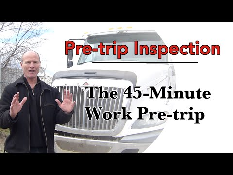 How To Do A CDL Pre Trip Inspection | The Work Pre-Trip