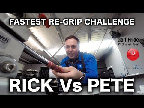 RICK Vs PETER FASTEST GOLF PRIDE RE-GRIP CHALLENGE
