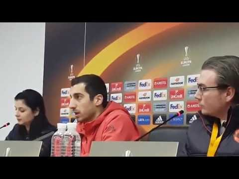 Пресс - конференция ФК Манчестер Юнайтед