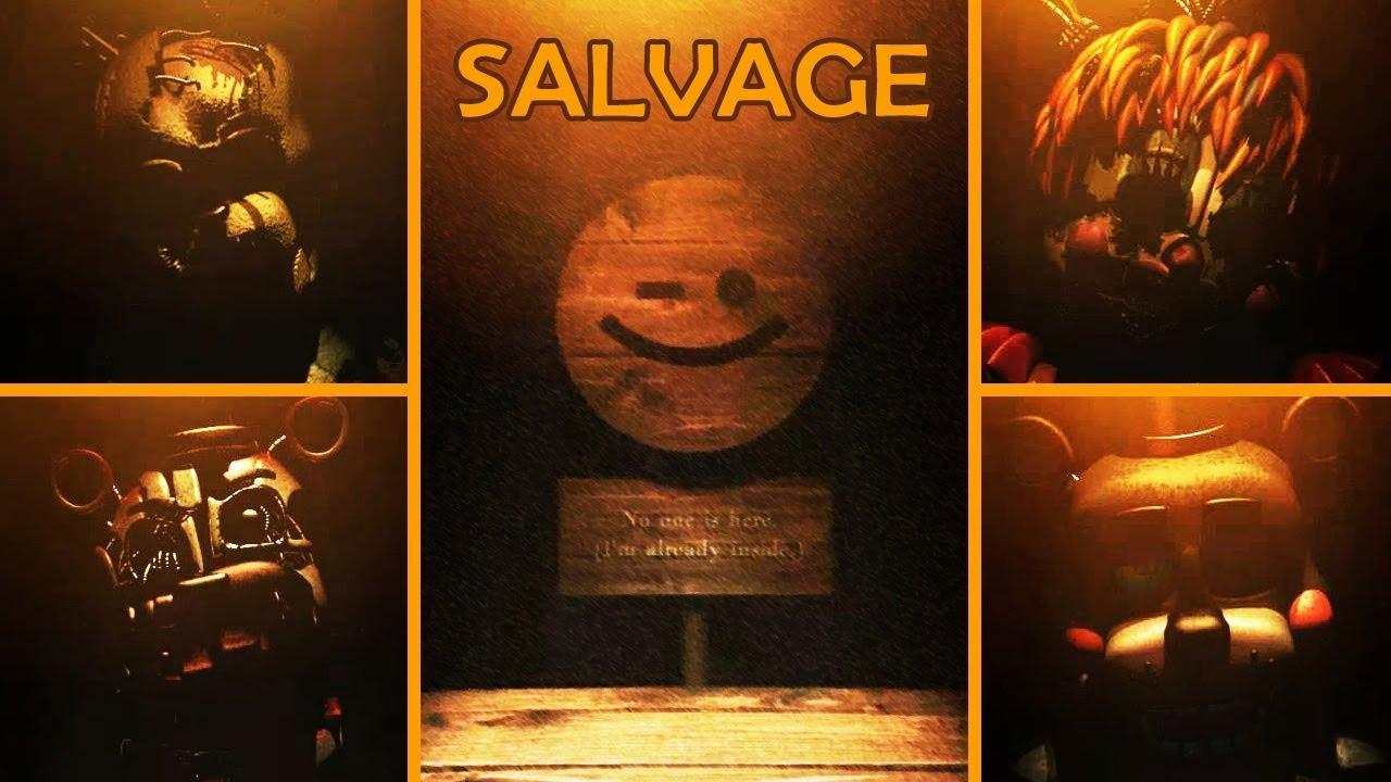 FNAF 6 - All Salvage Minigames (No Damage)