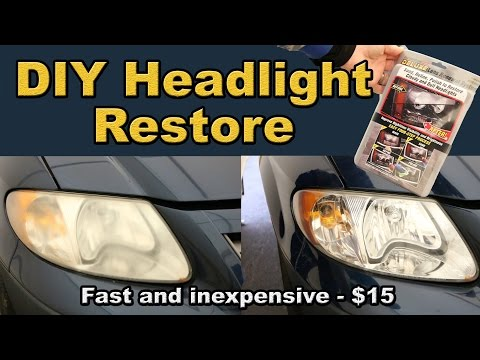 DIY Headlight Restoration for $15/ how-to and review bought at harbor freight