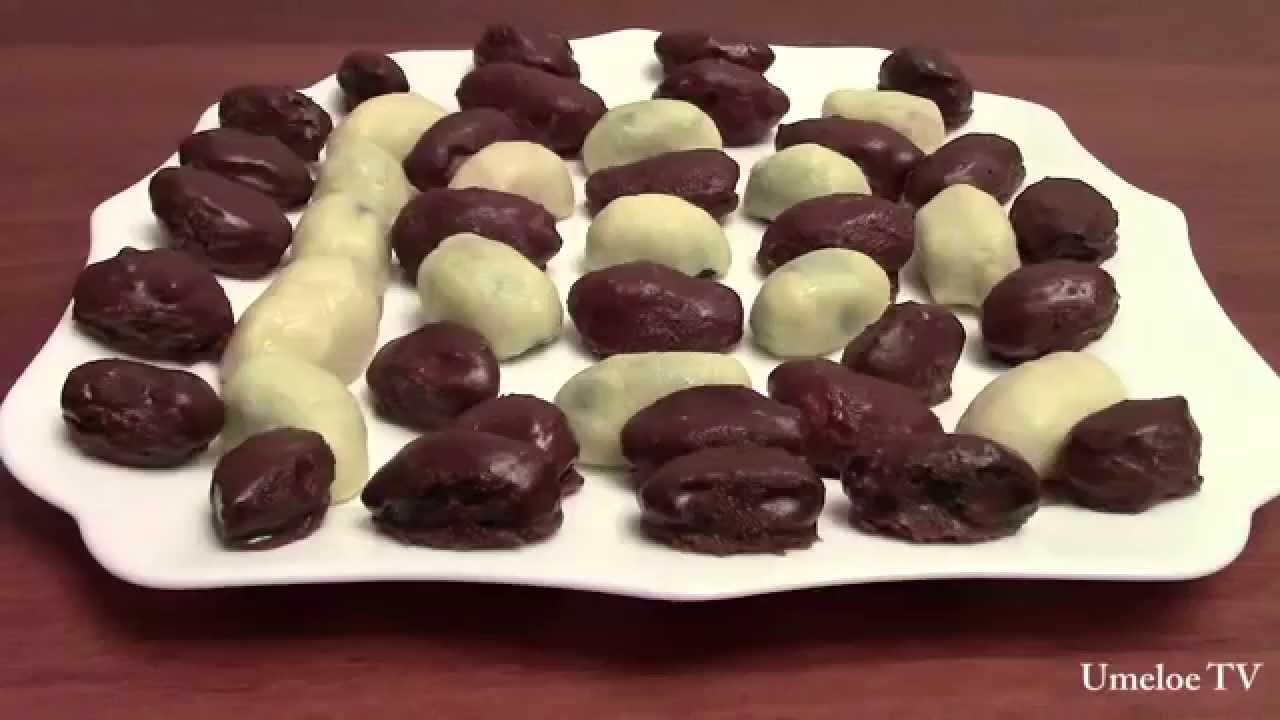 Конфеты из чернослива и орехов в шоколаде своими руками 5