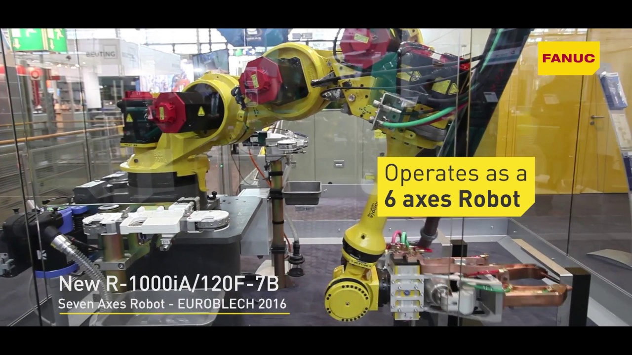 The ideal solution for narrow spaces: NEW 7-axes FANUC ROBOT R1000iA/120F-7B