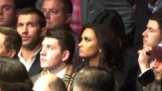 Demi Lovato & Fighter Hunk Luke Rockhold Watch UFC 205