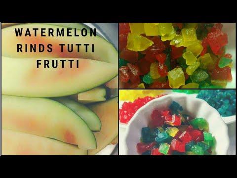 Tutti Fruitti |Cherry| Candied watermelon Candy |Tutti Frutti from watermelon | Tutti Frutti Recipe