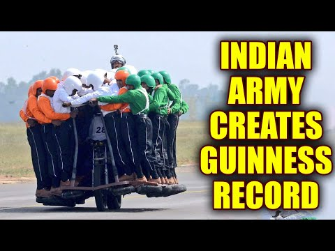 Indian Army creates new Guinness World Record with 58 men on one bike; Watch Video   Oneindia News