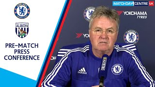 Chelsea vs West Bromwich Albion : Guus Hiddink Press Conference