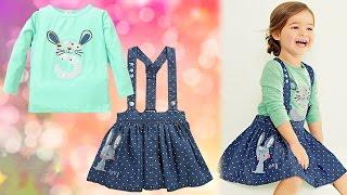 Качественный и стильный детский костюм для девочек. Юбка и кофточка с Aliexpress