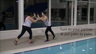 Aqua Aerobics Cool Down (Partner Stretch)