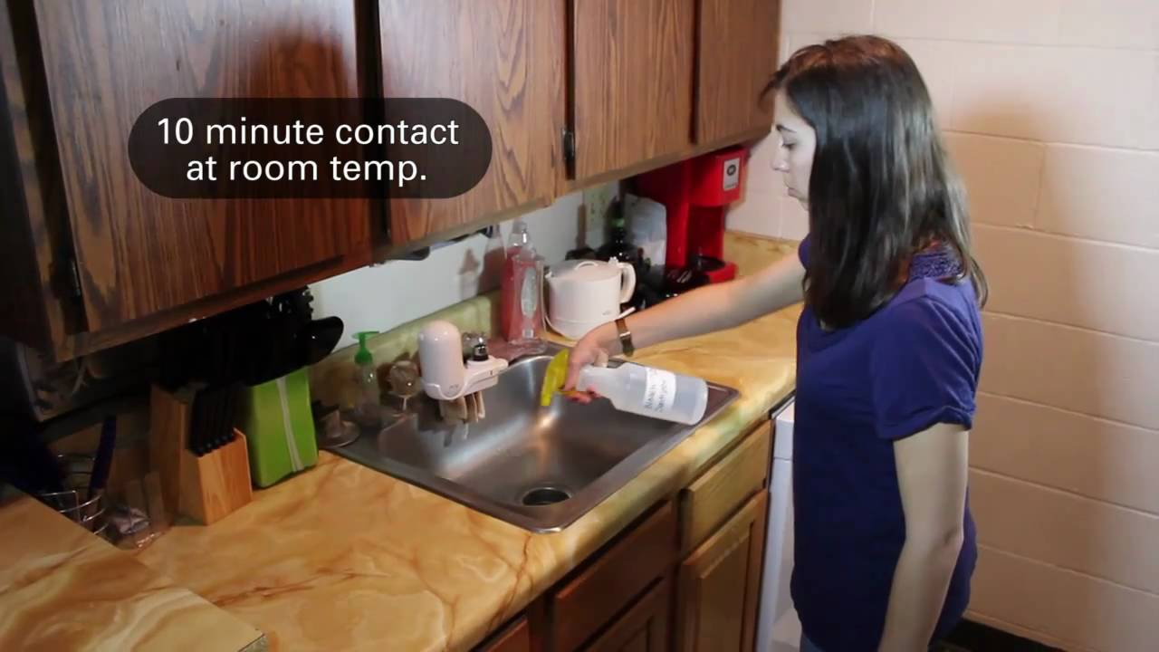 sanitizing the kitchen youtube
