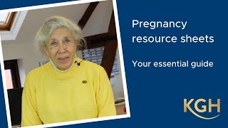 Pregnancy resource sheets - your essential guide