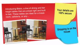 Bistro Series: 36 Square Table With 2 Bar Stools (bar Or Dining Height) - Ofconcepts.com