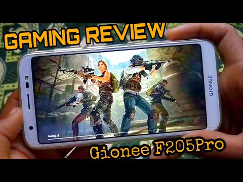 Gaming Review - Gionee f205pro by PUBG MOBILE