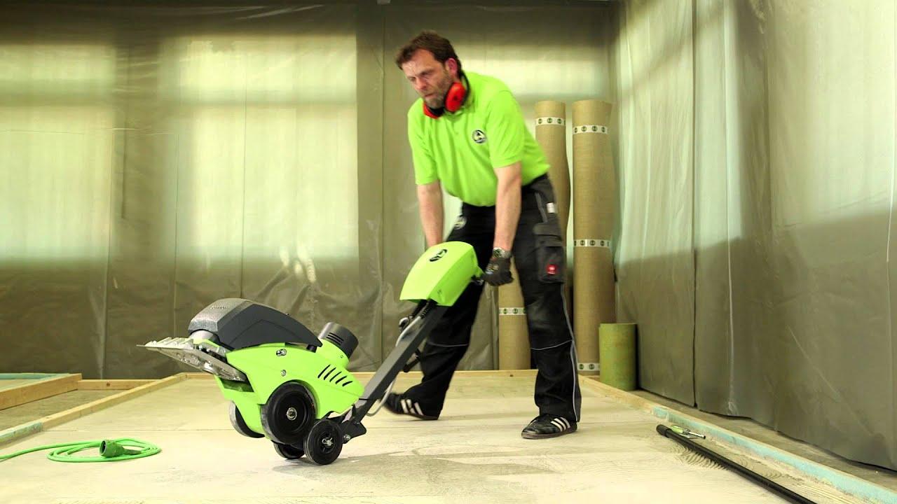 WOLFF CaymanStripper Engl Removes Floor Coverings YouTube - Wolff floor scraper