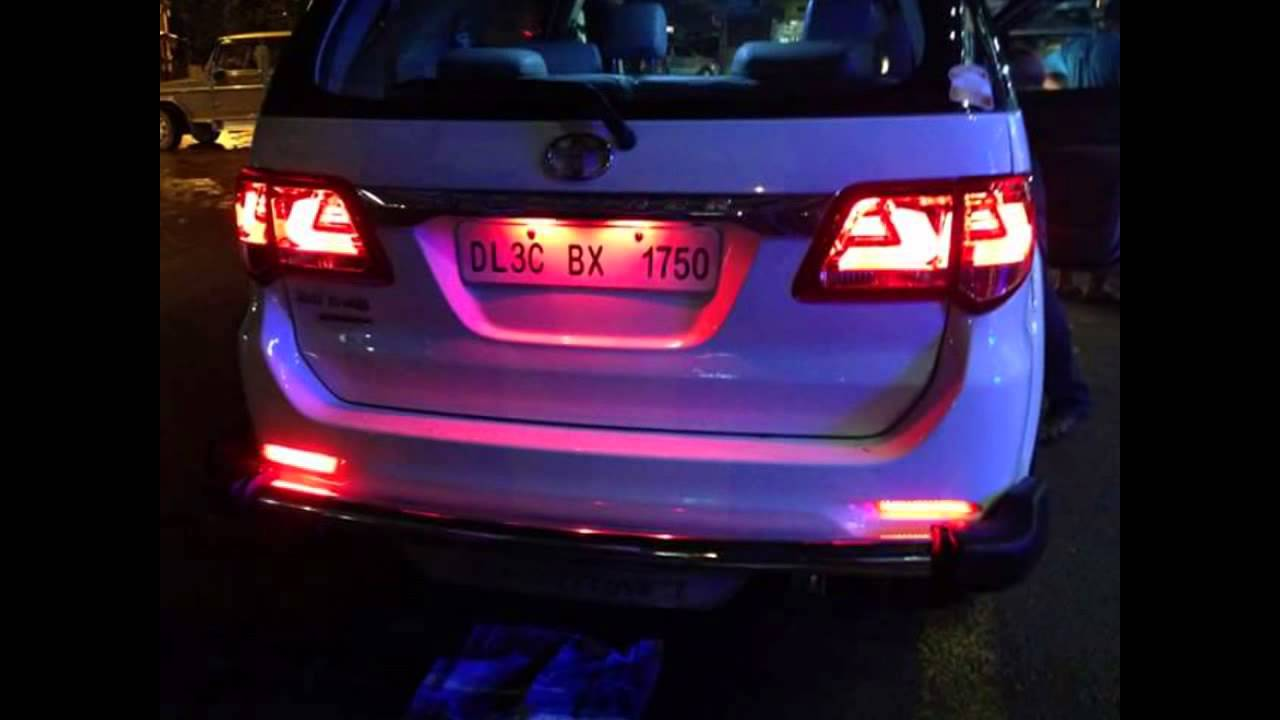 fortuner modified tail light back light accessories carcrome rs 8500 only youtube. Black Bedroom Furniture Sets. Home Design Ideas