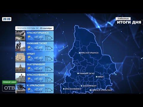 Прогноз погоды на неделю с 27.09.2019