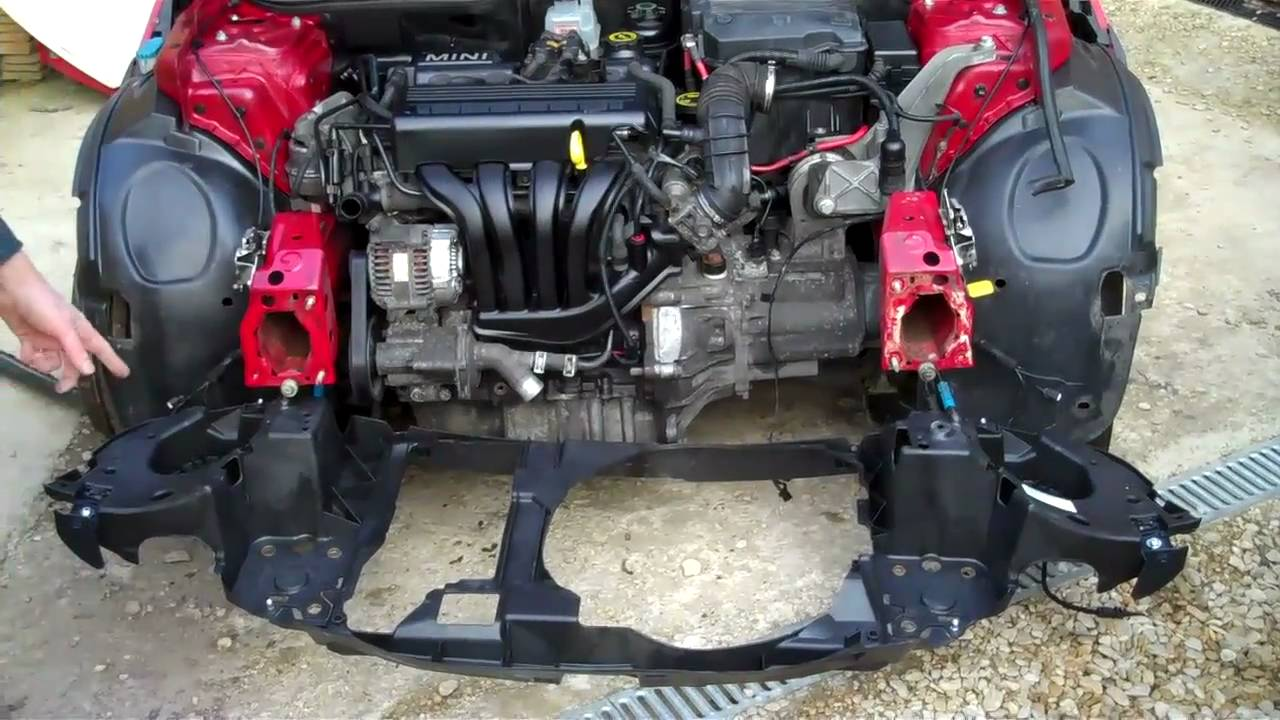 How to fit the plastic front panel to Mini Cooper  YouTube