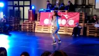 DANCEHALL BATTLE 1x1 - Final round - Noemi x Michelle - IN-JOY indoor festival Czech Republic 2013