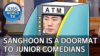 Sanghoon is a doormat to junior comedians [Happy Together/2019.09.12]