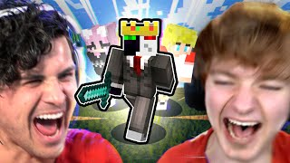 I spent a day with MINECRAFTERS (TommyInnit, Ranboo, Nihachu)