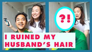 My Husband Asked Me to Cut His Hair and This is the Result | PearlTJI