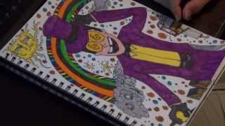 How To Color The Warden From Super Jail