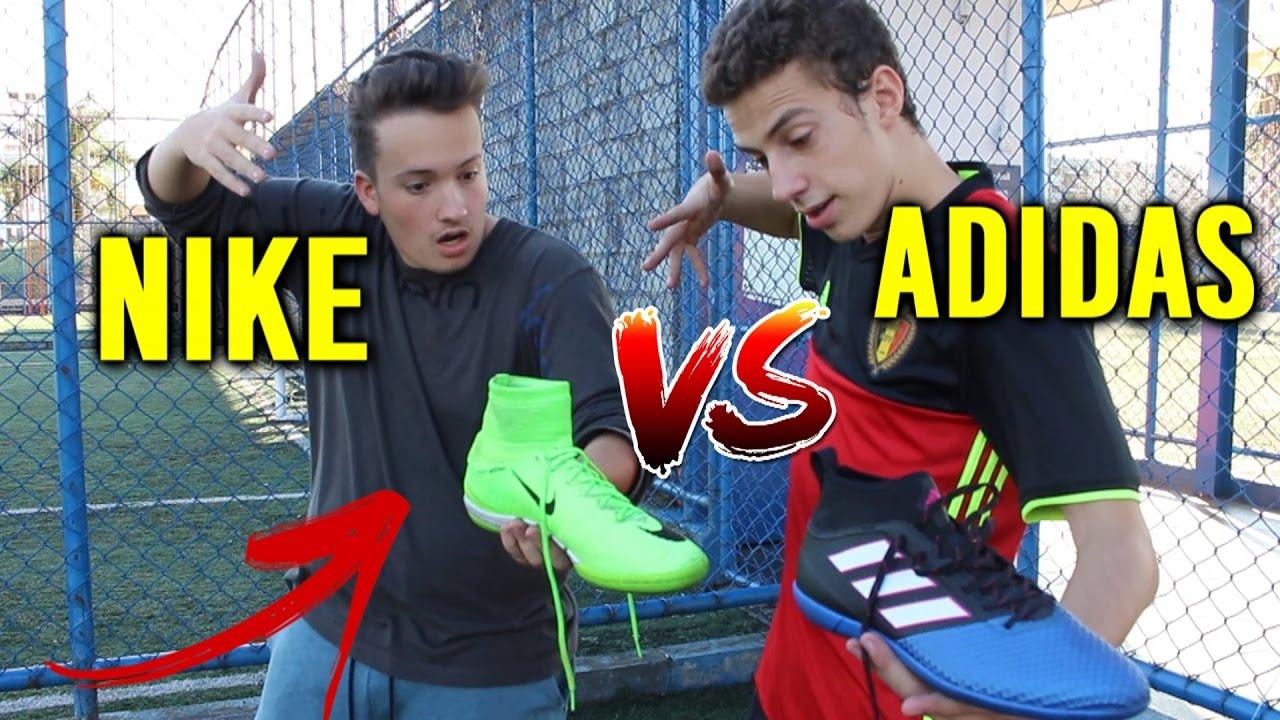 b08c195b55 Chuteira Mercurial (Cristiano Ronaldo) VS Chuteira ACE (Pogba) - NIKE vs  ADIDAS