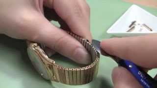 watch band adjusting how to remove u clip expansion links