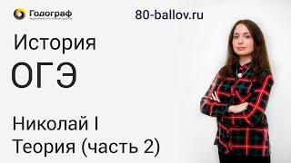 История ОГЭ 2019. Николай I. Теория (часть 2)
