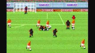 Super Soccer (SNES): Holland vs. Nintendo team