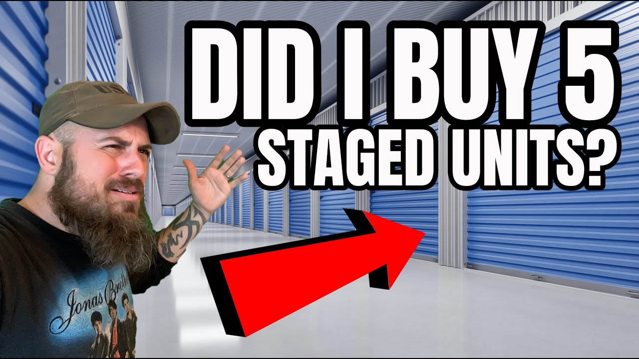 DID I JUST BUY 5 FAKE STAGED ABANDONED STORAGE UNITS?!?!?! OH NO!