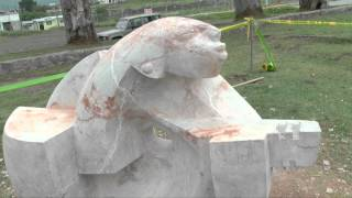 Clausura del IV Simposio Internacional de Escultura en Machachi