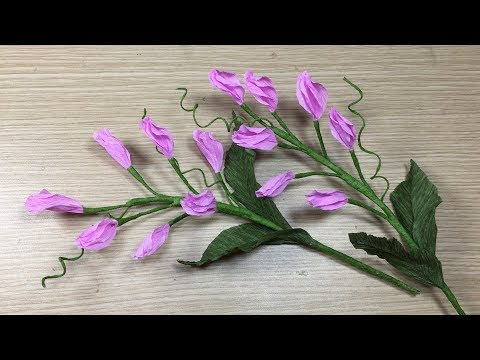 HOW TO MAKE ORCHIDS  FLOWER , STEP BY STEP