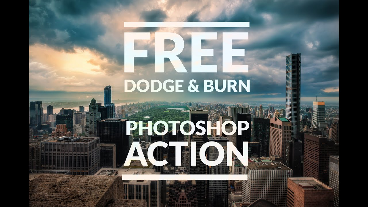 dodge and burn photoshop action free