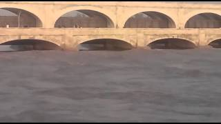Sukkur Flood Situation at Sukkur Barrage 2 August