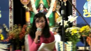 Saraswati Puja 2013 - Bangla Gaan by Ishita Dutta