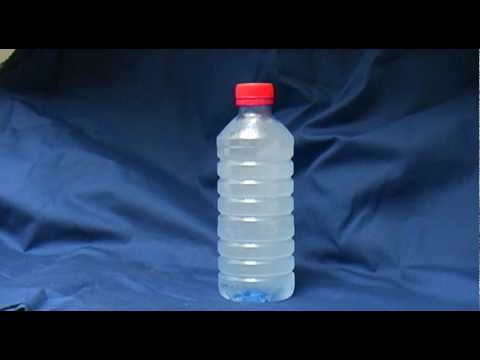 Watch supercooled water freeze