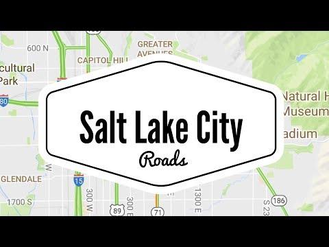 Salt Lake City Roads - Drive from University of Utah Medical Center to Harriman Utah