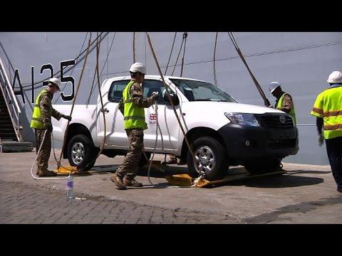 British Navy ship arrives in Sierra Leone with Ebola aid