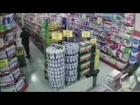 Market hırsızları güvenlik kameralarında