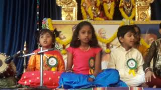 Elli shri Harikatha: Anika my daughter's first stage performance for Carnatic music