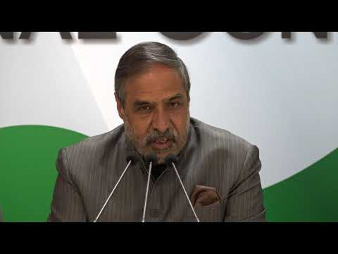 AICC Press Briefing By Anand Sharma on Gujarat Election at Congress HQ, November 25, 2017
